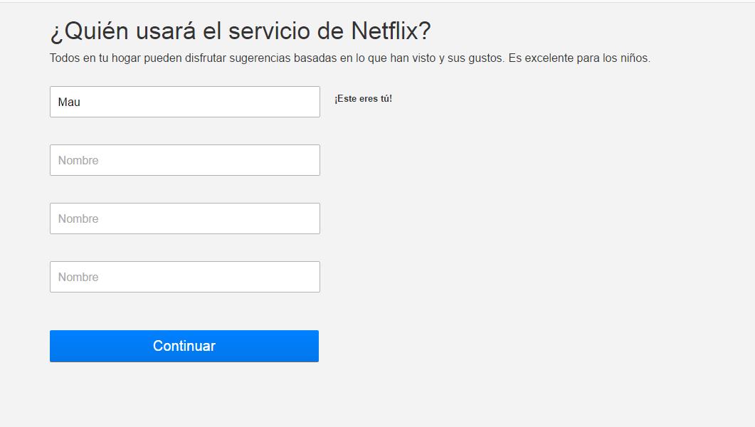 Netflix Supertarjetas Info